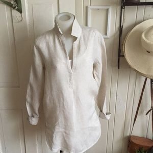 Gap linen tunic -XS flax color linen ,